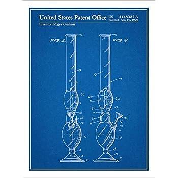 Amazoncom 1979 Smoking Device Water Pipe Bong Patent Print Art