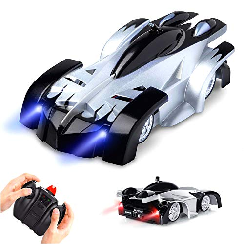 Wall Climber (Mayzo Remote Control Car Wall Climbing,Dual Mode 360°Rotating Stunt Wall Climbing Car with Remote Control,Head and Rear LED Lights,Rechargeable Rc Wall Climbing Car,Christmas Toys for Boys Girls.)