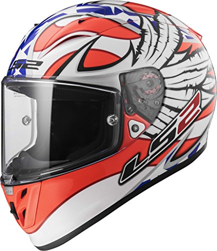 LS2 Arrow white Freedom Graphic Road Racing Helmet (XX-Large) (Arrow Racing)