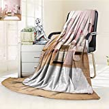 Fleece Blanket 300 GSM Anti-Static Super Soft Multifunctional Girl Room with Bed Rug Chair and Desk Warm Fuzzy Bed Blanket Couch Blanket(60''x 50'')