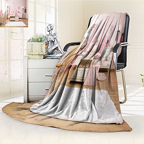 Fleece Blanket 300 GSM Anti-Static Super Soft Multifunctional Girl Room with Bed Rug Chair and Desk Warm Fuzzy Bed Blanket Couch Blanket(60''x 50'') by Philiphome