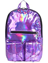 YOUR GALLERY Womens Reflective Mirror Surface Hologram Backpacks Causual Daypack