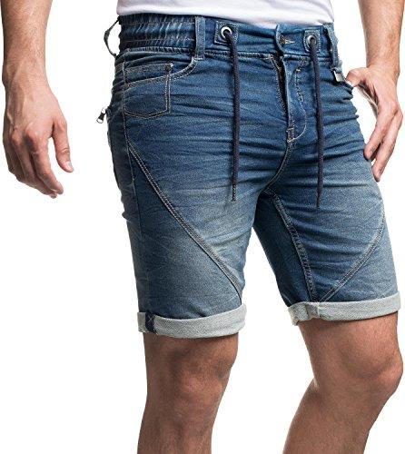 bleu en Sweat couleurs foncé 29 6 pour hommes 61584 Short 38 Denim jean Sublevel gby7f6