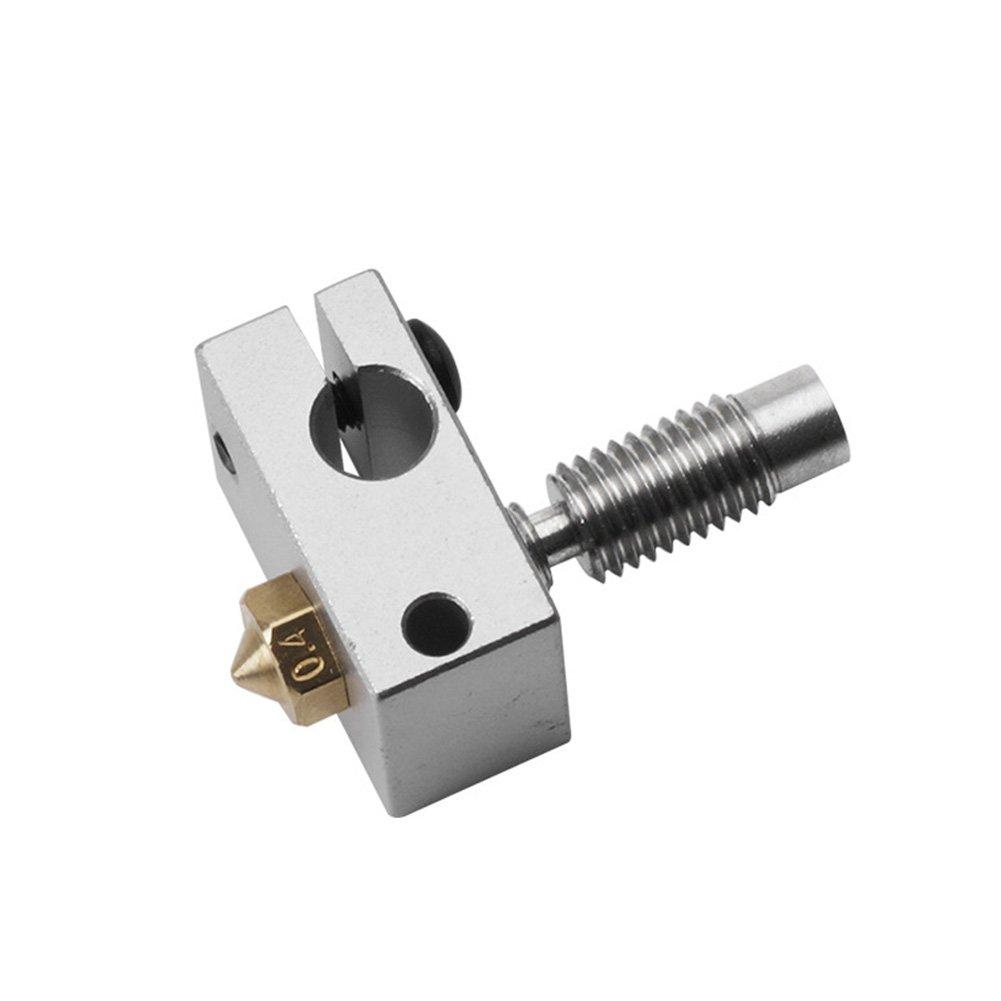 rokoo Calefacci/ón Bloque Juego de Tubo para V6/3D extruder Hotend PT100/Sensor Cartucho Cobre Boquilla