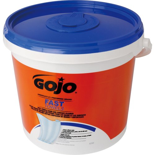(Gojo 629804 Fast Wet wipe Towels Bucket 130/bucket)