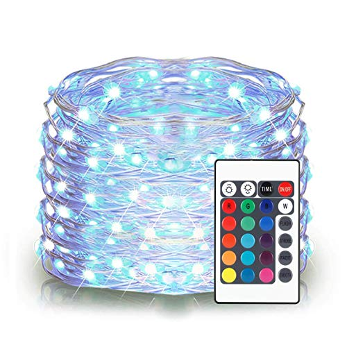Blue Led String Lights White Wire in US - 9