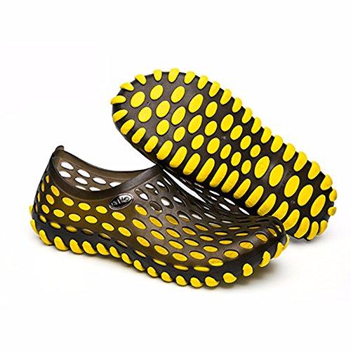 Buco scarpa Uomini estate Spiaggia scarpa Coppia scarpa all'aperto Tempo libero scarpa Uomini alunno sandali ,giallo,US=8,UK=7.5,EU=41 1/3,CN=42