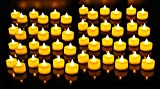 One Stop Shop Flickering Flameless LED Tealight Birthday/ Festival / Anniversary / All purpose (Set of 12)