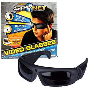 Jakks Pacific Year 2011 Real Tech SpyNet Series VIDEO GLASSES (Record Video and Take Photos) with Hidden Camera Plus Ability to Record Up to 20 Minutes of Video and Capture Up to 2000 Pictures