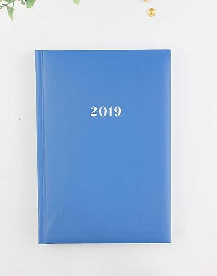 Casterli - Agenda Anual 2019 Día página - Básica pastel. (Azul Celeste)