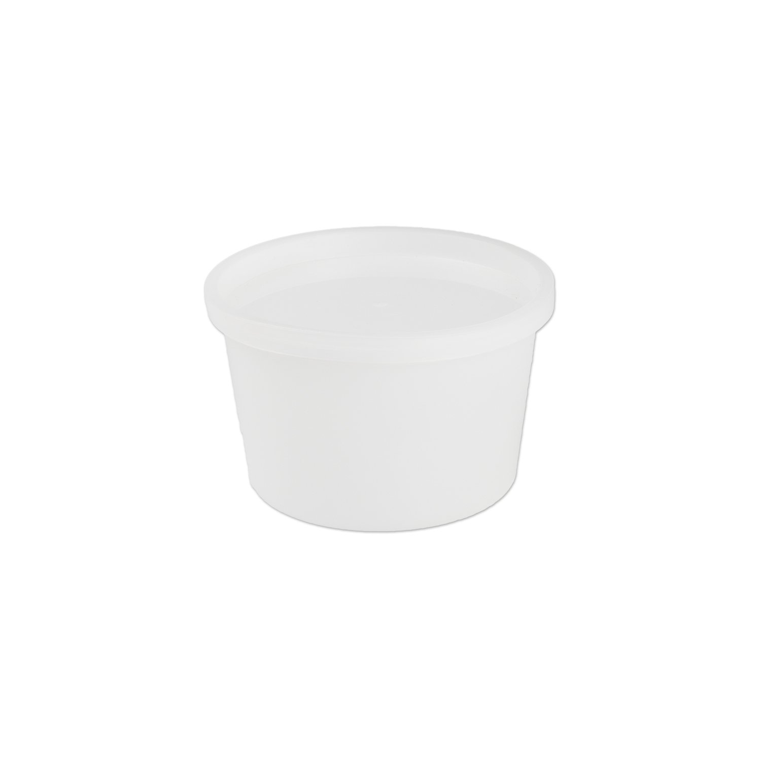 Medegen 02732 All-Purpose Laboratory Container with Snap on Lid, Non-Sterile, 16 oz. Capacity, Translucent (Pack of 100) by Medegen (Image #1)