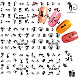 Bhbuy 3D Cat Nail Art Stickers Decals Girl Fingernail Decoration
