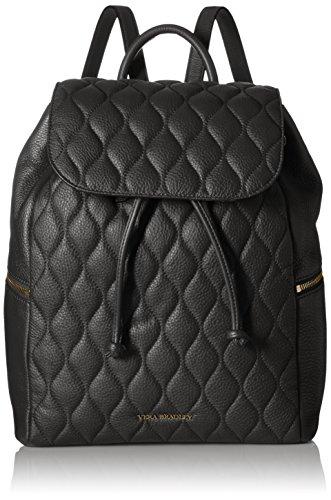 Vera Bradley Quilted Amy Backpack Shoulder Handbag, Black, One Size by Vera Bradley