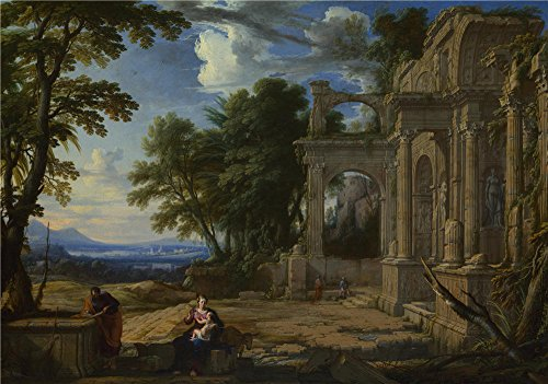 [The Polyster Canvas Of Oil Painting 'Pierre Patel Landscape With The Rest On The Flight Into Egypt ' ,size: 10 X 14 Inch / 25 X 36 Cm ,this Vivid Art Decorative Canvas Prints Is Fit For Gym Gallery Art And Home Artwork And] (Chicago The Musical Costume Ideas)