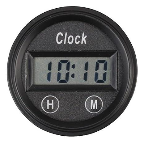 Pa Auto reloj digital Calibre ámbar luz de fondo para Interior de Coche Salpicadero: Amazon.es: Coche y moto