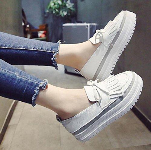 KPHY autumn mit Kiefer-Schuhe, koreanische Version mit Pearl-Schuhe, klein, Weiß, Weiß, klein, Schuhe, Damen-Schuhe, Thirty-seven 9ad4cb