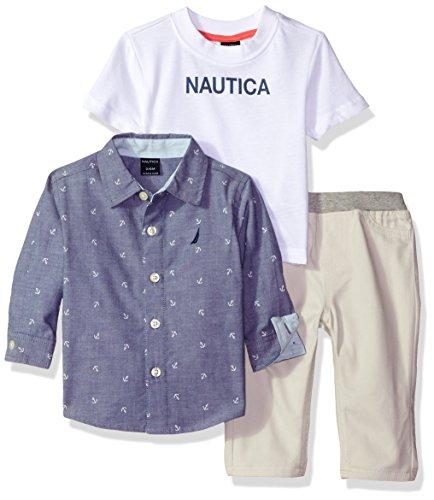 Nautica Sleeve Woven Shirt Twill
