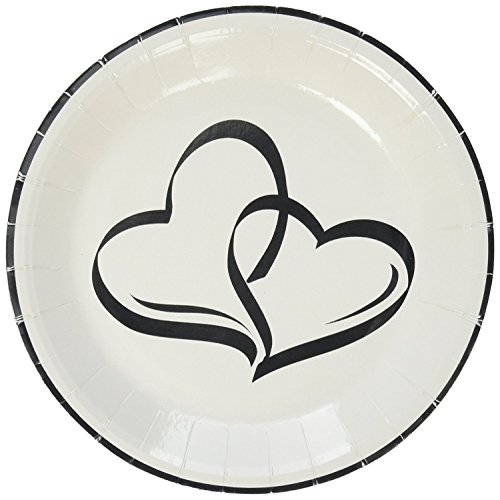 Fun Express Two Hearts Dessert Plates (50 Count)