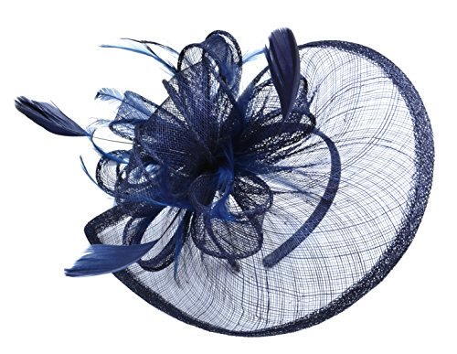 AM CLOTHES Womens Formal Party Cocktail Flower Feather Headband Fascinator