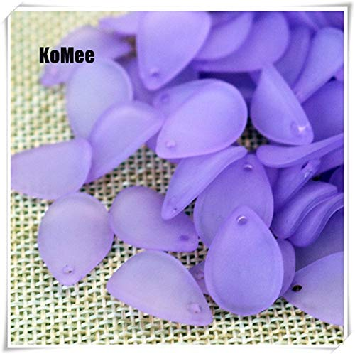 (Pukido 1217mm 500pcs Frosted White Lucite Flower Petal Beads FIT for Jewelry DIY - (Color: Purple))