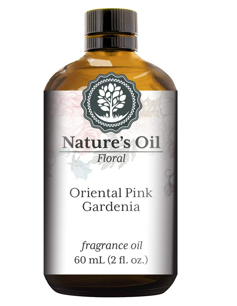 Oriental Pink Gardenia Fragrance Oil (60ml) For Diffusers, Soap Making, Candles, Lotion, Home Scents, Linen Spray, Bath Bombs, Slime