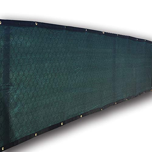 Alion Home Heavy Duty Privacy Screen for Pool, Railing, Backyard Deck, Patio, Balcony, Fence, Porch. 3 FT Height Dark Green (3' x 26')