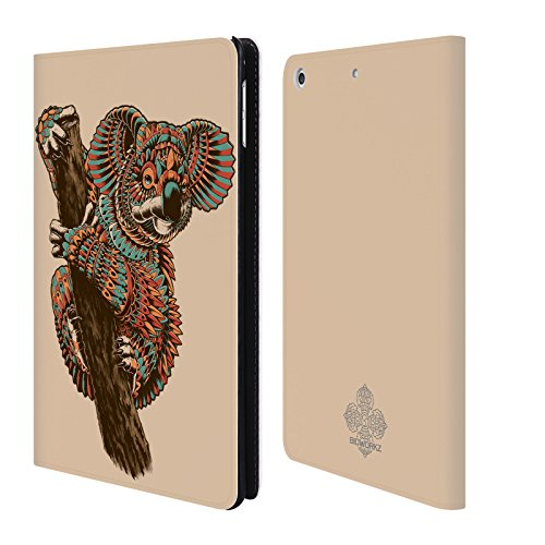 official-bioworkz-ornate-koala-coloured-wildlife-1-leather-book-wallet-case-cover-for-apple-ipad-min
