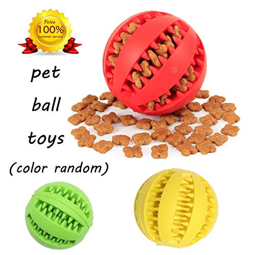 Petea Interactive Dog Toys Pet Toy IQ Ball Dog Chew Toy Pet Durable Feed Training Tooth Cleaning Ball for Small Medium…