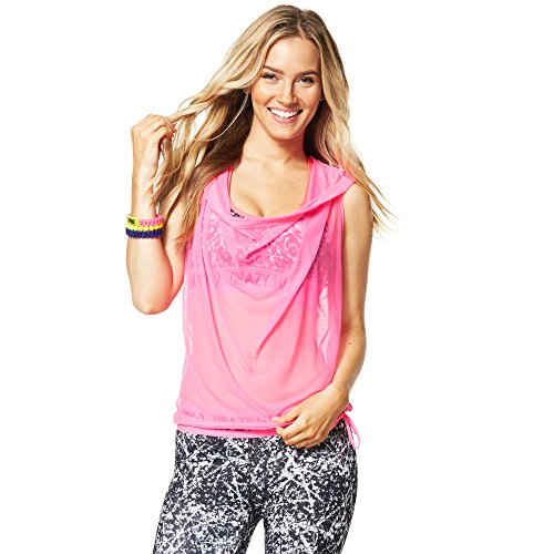 Zumba Fitness Glow Dreamer Top, Medium/Large, PinkGumball by Zumba