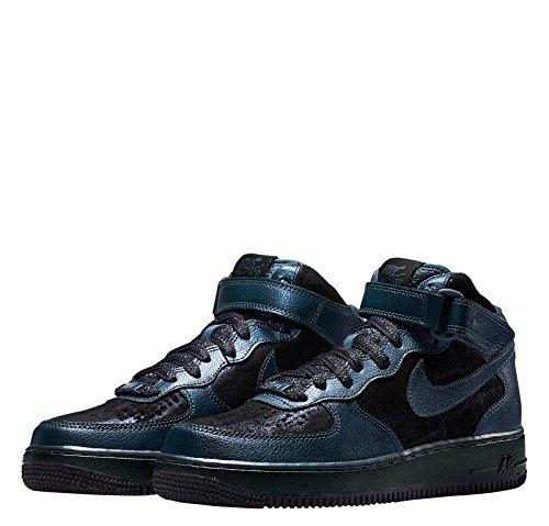 Nike Wmns Air Force 1 07 Mid Prm Damen Schuhe Blau Blau (Blau-Schwarz)