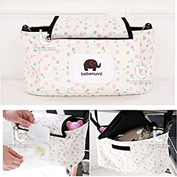 Baby Stroller Storage Bag Organizer Pram Buggy Pushchair Cup Diaper Hanging Bag