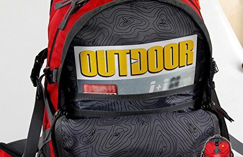 HWLXBB Outdoor Bergsteigen Tasche 40L Anti-Spritzwasser Wasser Licht Reise Bergsteigen Rucksack Männer und Frauen Walking Bergsteigen Tasche ( Farbe : 1* , größe : 50L )