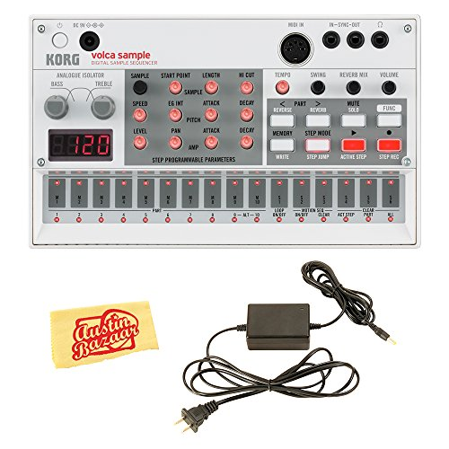 Korg Volca Digital Sample Sequencer Bundle with Power Supply and Austin Bazaar Polishing Cloth ()