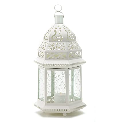 amazon com 15 wholesale large white moroccan lantern wedding rh amazon com Vintage Lantern Wedding Centerpieces Lantern Wedding Centerpieces for Tables
