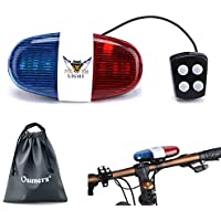 Oumers Bicycle Police Sound Light, Bike LED Light...