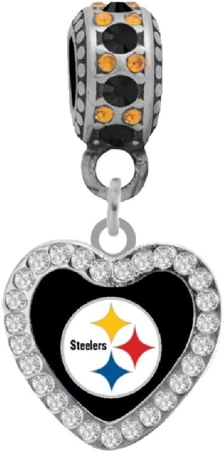 Final Touch Gifts Crystal Heart Charm Compatible with Pandora Style  Bracelets. Can Also be Worn as a Necklace (Included.)