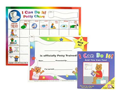 "Kenson Kids ""I Can Do It!"" Potty Chart Updated Toilet Traini"