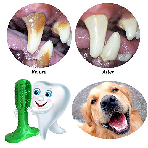 Simxen Dog Toothbrush Stick-Dog Teeth Clean Tooth Brushing Stick for Dogs Oral Care Dental Care Natural Rubber Non-Toxic Dog Pet Chew Toys
