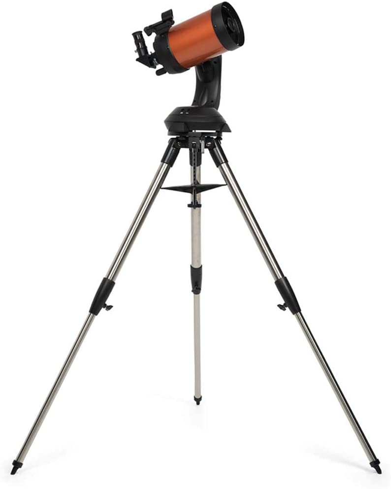 焦点距離1250Mm、90度フルデイミラー、ポータブル屈折望遠鏡–完全にコーティングされたガラス光学-赤道儀付き初心者向けの理想的な望遠鏡