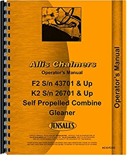 allis chalmers k2 combine operators manual (26701 & up) (self propelled combine  gleaner