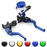 Universal Motorcycle 7/8'' 22mm Standard Handle Bar Adjustment Front Brake Master Cylinder Clutch Lever For Sport Bike/Street Bike/Scooter/Dirt Bike(Blue)