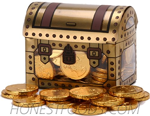 Pirate Tresure Chest Full of Gold Coins, 2 Pack