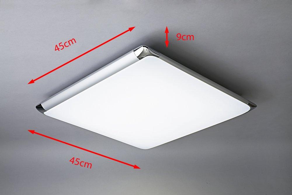 NatsenR 24W Moderne LED Deckenlampe Mit Fernbedienung Voll Dimmbar Lampe Geeignet Fr Flur Wohnzimmer Kche Bad Etc 450mm X Amazonde