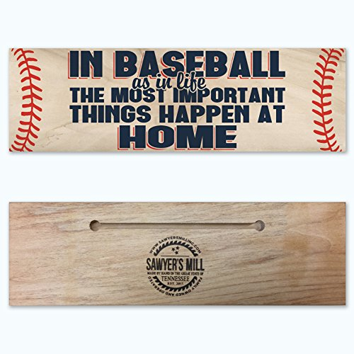 In Baseball as in Life, The Most Important Things Happen at Home. - Handmade Wood Block - Poplar Most