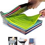 ABTP 20 Pieces Closet Organizer Shirt Folder Space Saver T-shirt Stacker Organizer Clothes Storage Holders Office Shelves Clear