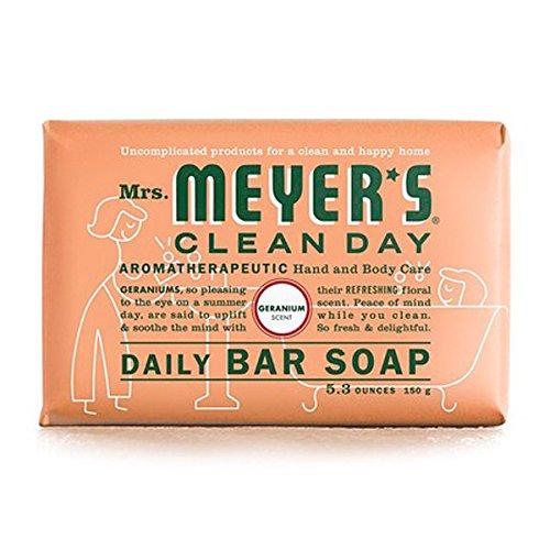 Mrs Meyers Clean Day Soap Bar Geranium, 5.3 ounce ()