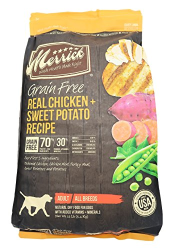 Merrick Grain Free Real Chicken & Sweet Potato Dry Dog Food, 12 lb.