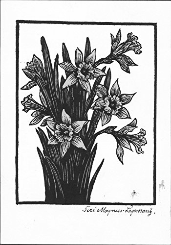 Vintage photo of A postcard with a lovely bunch of daffodils sold for Norway Aid. - 22 April 1943