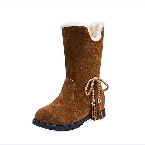 Logobeing Botas Mujer Tacon Botas Altas Botines Botas de Nieve Mujer Inglaterra Talladas Martin Botas Elásticas Ankle Boots Zapatos Planos Botines Casual ...
