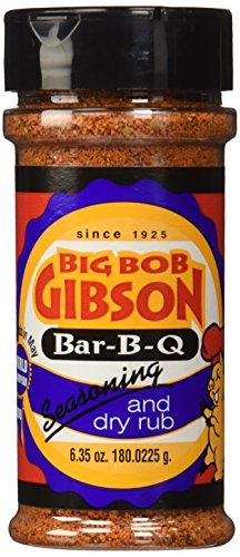 Big Bob Gibson Bar-B-Q Seasoning and Dry Rub (Gibsons Seasoning)